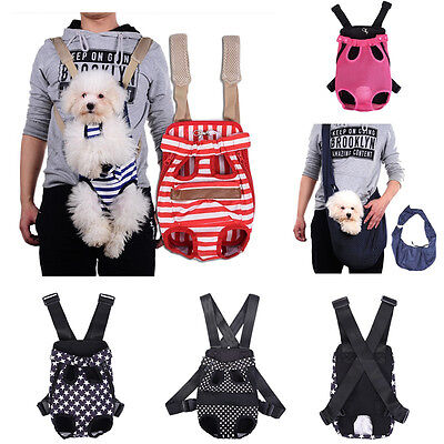 Pet Dog Carrier Bag Shoulder/Sling/Net Backpack Legs Out Front/Back Puppy Pouch