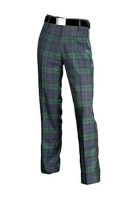 Black Watch Mens Scottish Tartan Golf Trousers Inside Leg 31'' And 33''