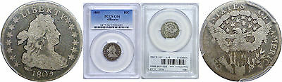 1805 Bust Dime PCGS G-04 4 Berries