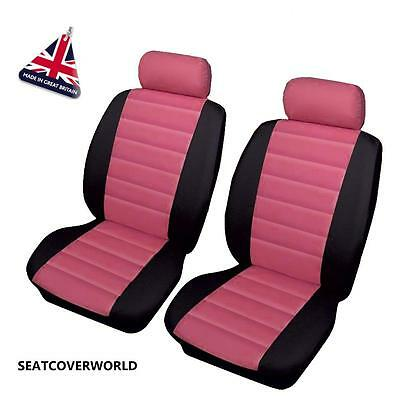 MERCEDES PINK LEATHERLOOK CAR SEAT COVERS A B C Class CL CLA CLC CLK CLS