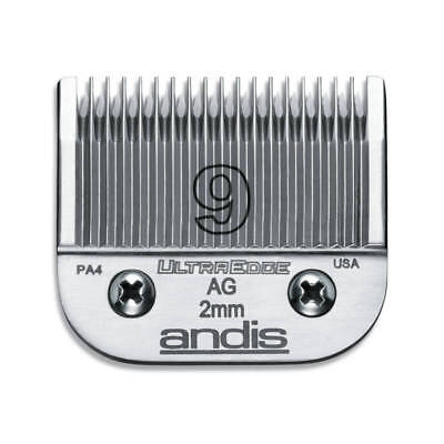 Andis UltraEdge Detachable Blade, Size 9 - Leaves 2mm Fits AGC/AGR+ & Oster