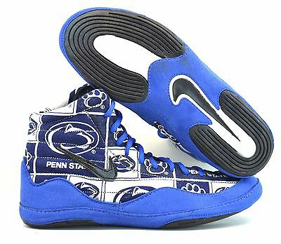 best service dcaf4 2e2d2 Rare Custom Made Penn State Nike Inflict 3 Wrestling Shoes Inflicts 10.5 10  1 2