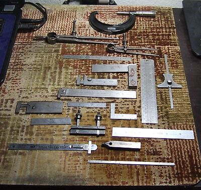Antique Vintage Collection of Engineering Rules Tools Starrett Brown & Sharpe