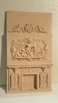 Very tall & ornate Dollhouse faux marble fireplace (new)