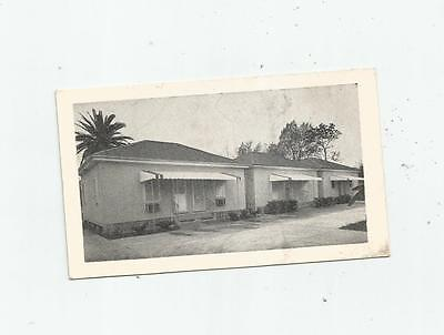 1940's NEW ORLEANS LA ARDEN TOURIST COURT MOTEL BUSINESS CARD PHOTO US 90