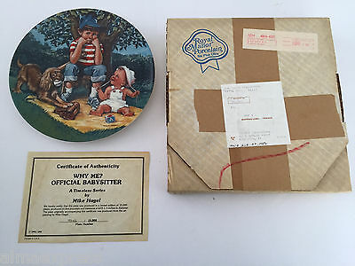 """1981 The Children's Hour Series """"Why Me"""" 1st Edition Collector Plate"""