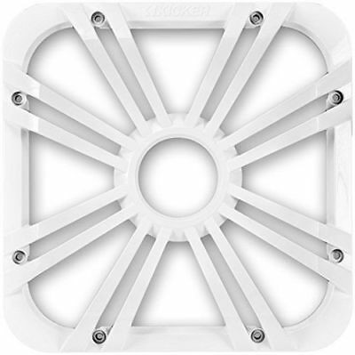 """Kicker 11L712GLW 12"""" Square Grill With LED Light for Solo-Baric Subwoofer -White"""