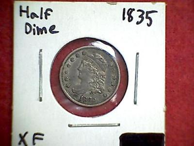 1835 Capped Bust Half Dime 5c .900 Silver Philadelphia