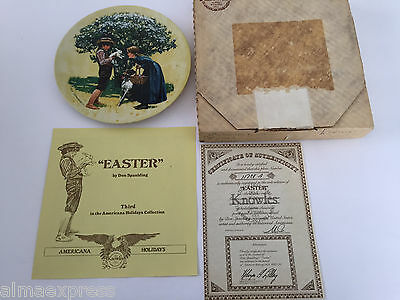 """Americana Holidays Collection """"EASTER"""" Knowles 3rd Issue Collector Plate"""