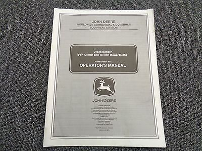 John Deere 2 bag bagger for 42inch, and 48 inch mower decks operators manual