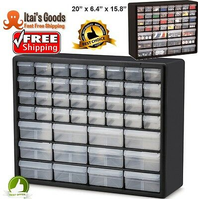 Drawer Organizer Cabinet Storage Plastic Parts Small Tool Bin Box Container NEW