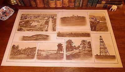Original Antique Civil War Chattanooga NASHVILLE Tennessee TN Lithograph Print