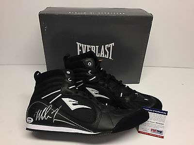 Mike Tyson Signed Everlast Boxing Shoes *Iron Mike *HOF PSA 6A42294