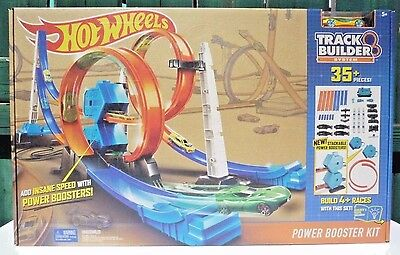Hot Wheels Track Builder System Power Booster Kit 35+ Pieces NEW/SEALED