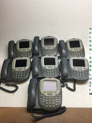 LOT OF 7 Avaya 4625SW VoIP IP Business Color Display Phones w/ Handsets NO STAND