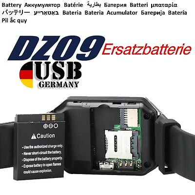 Smart Watch DZ09 li-Polymer akku accu batterie battery аккумулятор accumulatore