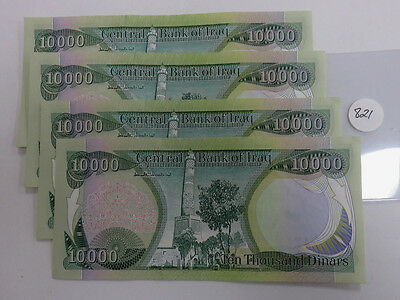 4- 10,000 Dinar Notes Central Bank of Iraq.