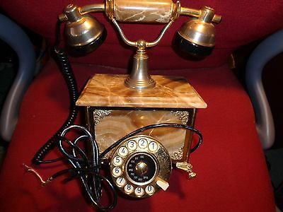 Antique Dial, French Style Telephone, Marble Box, Made in Italy