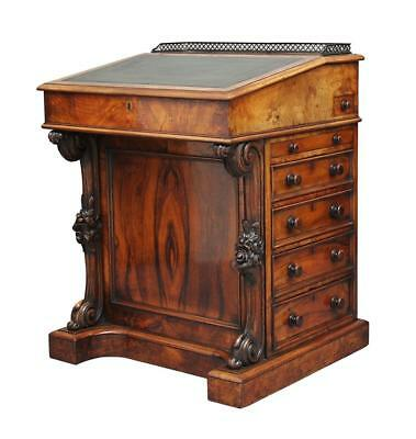 19Th Century Early Victorian Walnut Davenport Desk