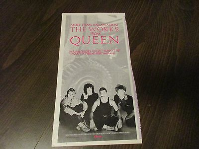 Queen - The Works - Freddie Mercury - Brian May   -  1980's Magazine Print Ad