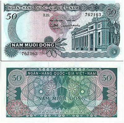 Vietnam (South),  50 Dong,  1969 Nd,  P-25, Unc