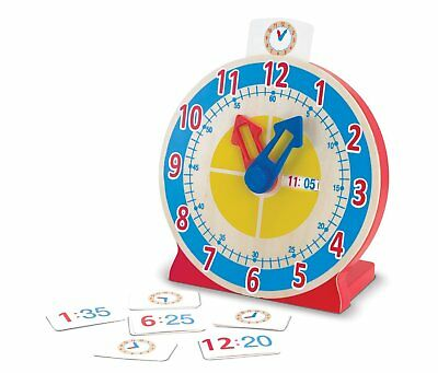 MELISSA and DOUG Wooden Turn and Tell Clock *BRAND NEW*