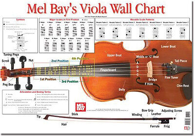 Viola Wall Chart by Martin Norgaard - FAST SHIPPING & FRIENDLY SERVICE!