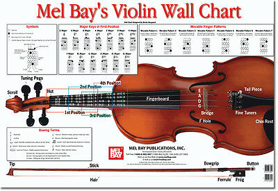 Violin Wall Chart by Martin Norgaard - Learning is FUN!