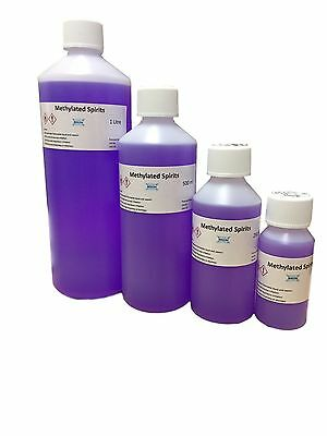 Methylated Spirits, Top Quality 94% Meths, Various sizes FREE & Fast UK Shipping