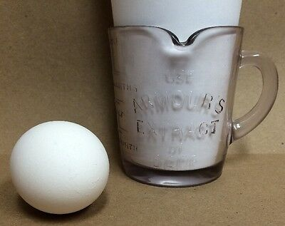 Vintage Armour's Extract Of Beef Glass Measuring Cup Advertising Armours