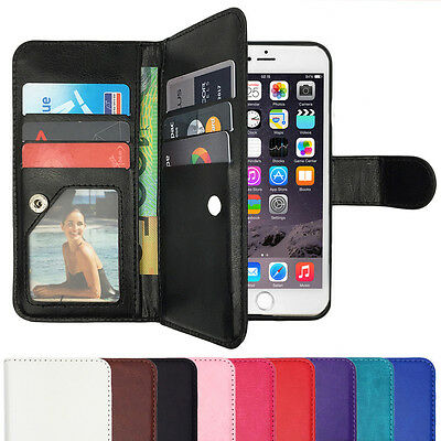 Wallet Magnetic Leather Flip Case Cover for Apple iPhone 5 5S SE 6 6S Plus 7 8 X