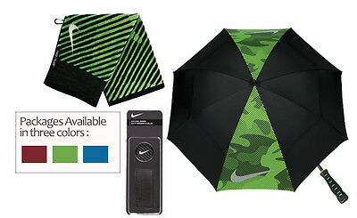 Nike Golf Accessory Pack - Includes Umbrella, Towel and Clip/Ball Marker