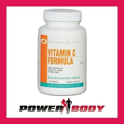 Universal Nutrition - Vitamin C Formula, 500 mg - 100 tablets