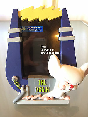 """Pinky & The Brain Photo Picture Frame 3 1/2"""" x 5"""" From WB Store Used 1997"""