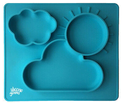 Kids Silicone Suction Food Placemat With Built In Plates - FREE EXPRESS SHIPPING