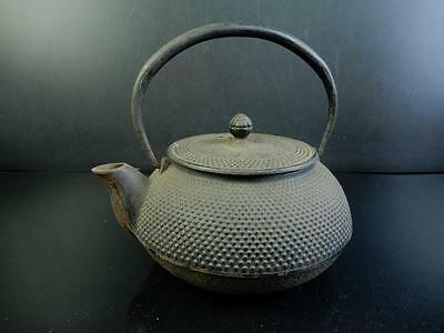 F2968: Japanese Iron Arare pattern TEA KETTLE Teapot Tetsubin, Iwachu made