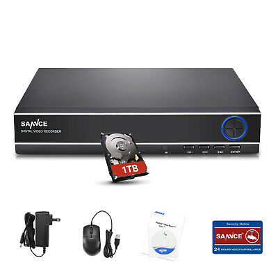SANNCE 8Channel 4in1 HD 1080N DVR for TVI Security System Email Alert IR Cut 1TB