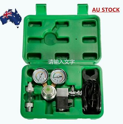 AU Co2 regulator magnetic solenoid valve two gauge bubble counter planted tank