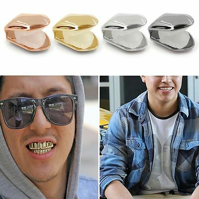 Hot Brand New 14k Gold Plated Small Single Tooth Cap Grillz Hip Hop Teeth Grill