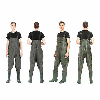 Heavy Duty Waterproof Pvc Chest Waders Fly Coarse Sea Fishing
