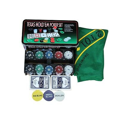 Deal-200 Baccarat chips Bargaining Poker Chips Set - Blackjack Table Cloth T3Q5