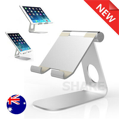 Universal Folding Aluminum Table Stand Desk Mount Holder for iPad iPhone Mobile