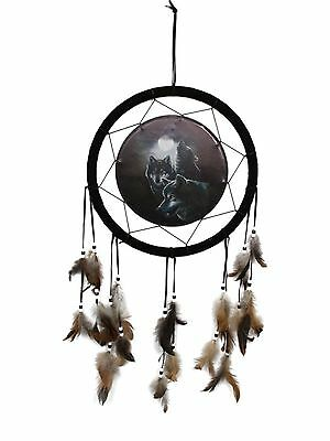 Pack of Wolves Dreamcatcher Howling at Moon Wolf Dream Catcher  33CM Diameter