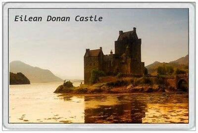 Eilean Donan Castle - Jumbo Fridge Magnet - Scotland Scottish Highlands Jacobite