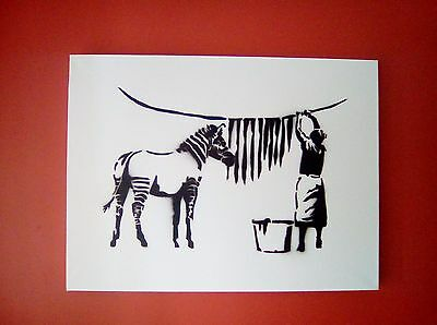 Signed Banksy Original Canvas