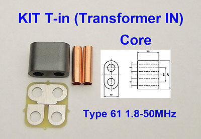 KIT RF Transformer ferrite 61 Amplifier SD2933 VRF2933 MRF150 BLF188 BLF578