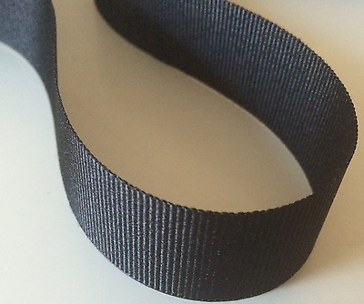 Grosgrain Ribbon Rolls 100m Black from France 100% Polyester. 25mm wide SALE