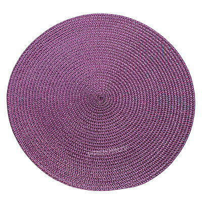 30cm Round Purple Woven Fabric Placemats Dining Room Table Setting Place Mats