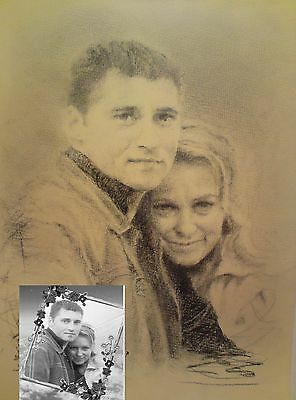 A4 STUNNING PENCIL DRAWING Personalized portrait/ handmade gift