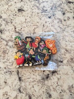 New El Chavo shoe charm set of (9)CakeTopper/HairBowsTop/Party Gift U.S.Seller